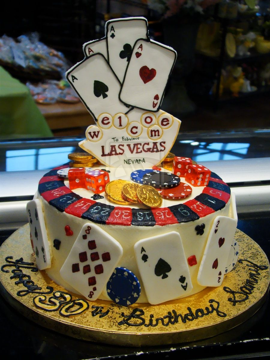 Las Vegas Birthday Cake By Erisanaiantart On Deviantart
