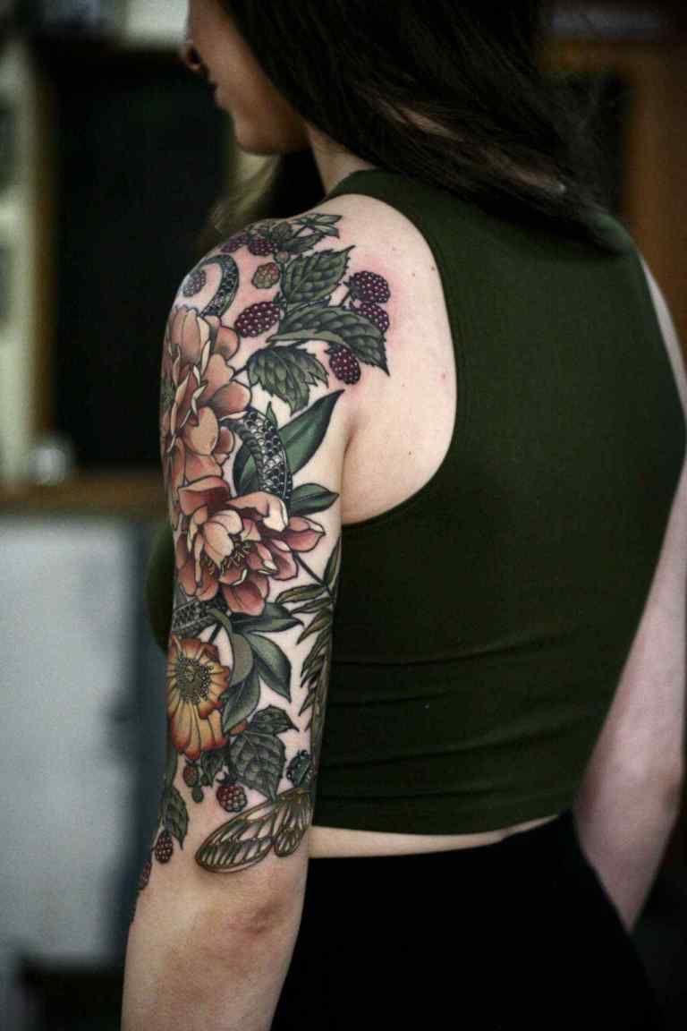 Tattoos For Women Half Sleeve Unique Color New Garden Half