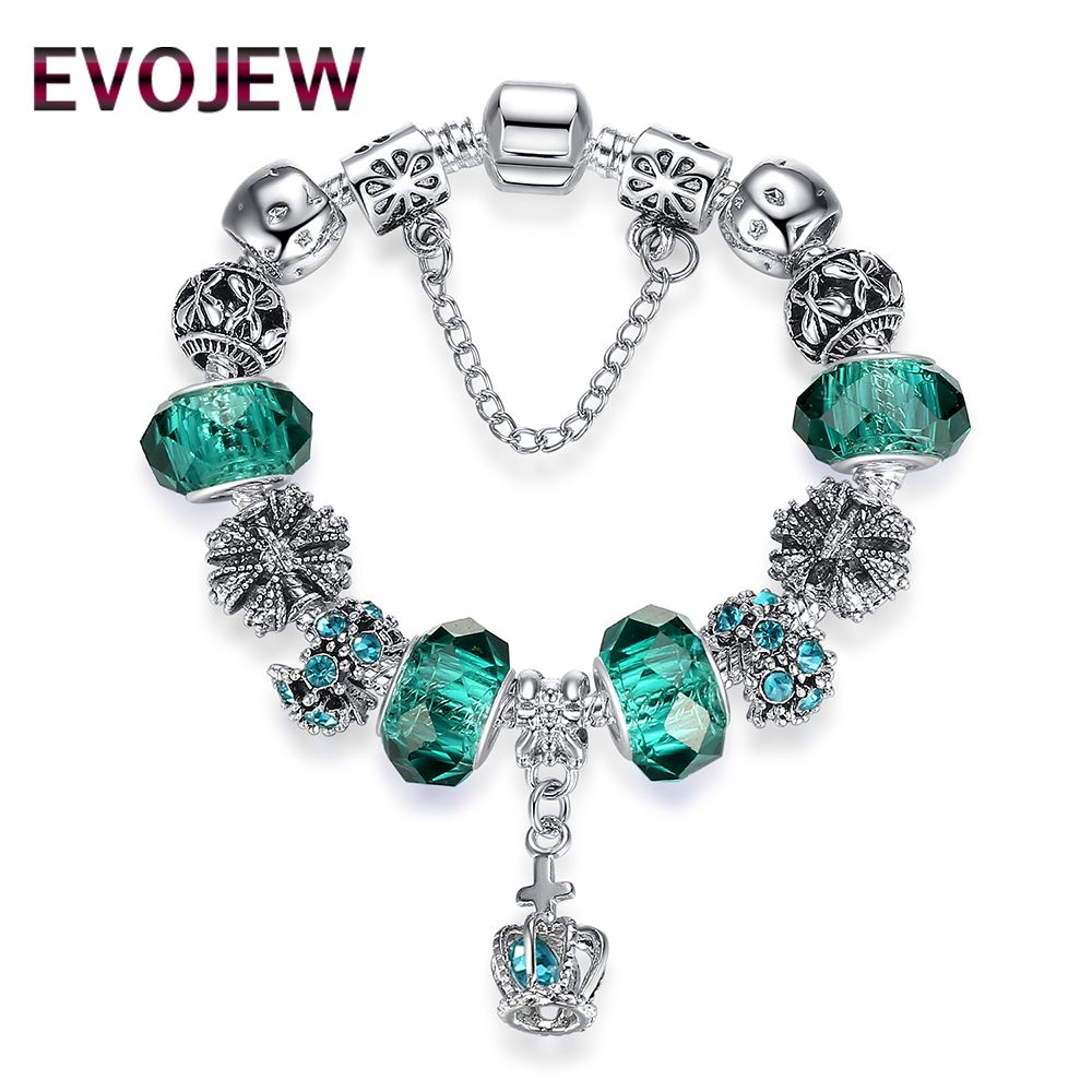 style european fashion classic silver charm bracelet with