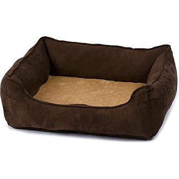 Petco Orthopedic Brown Lounger Dog Bed With Images Dog Bed