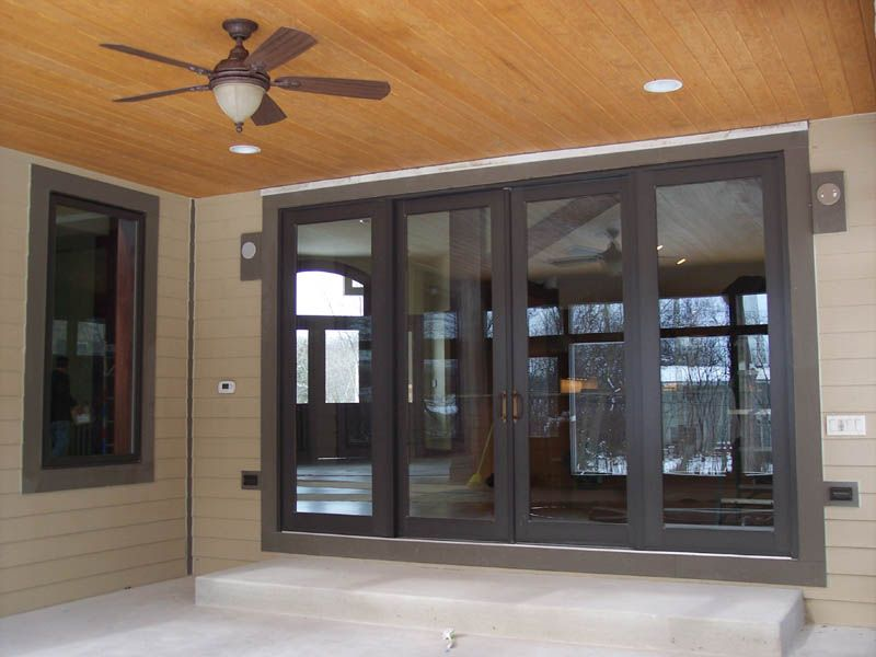 Fine Modern Exterior Sliding Doors Door And Storm O Throughout ...