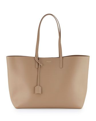 6a858559b76 Large East-West Leather Shopper Bag | Bags | Bags, Shopper bag ...