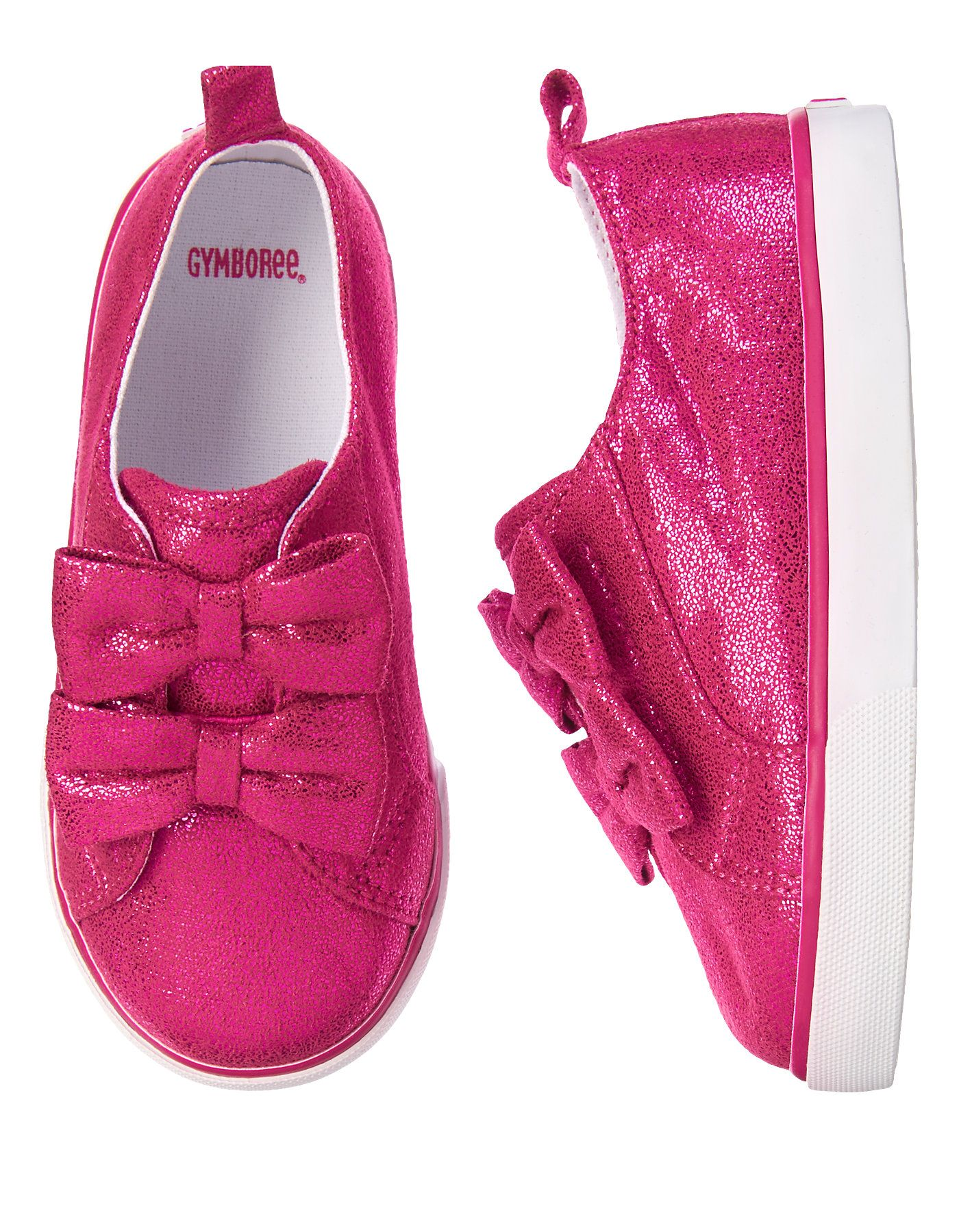 Sparkle Bow Sneakers at Gymboree Kids clothes