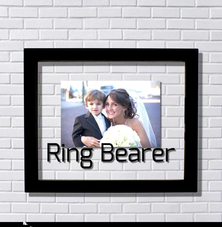 Ring Bearer Frame - Floating Frame - Photo Picture Frame - Wedding ...