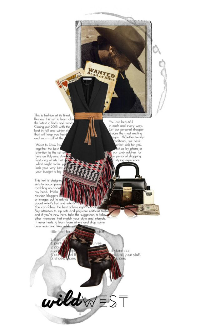 """""""#wildwest"""" by gizaboudib ❤ liked on Polyvore featuring Dsquared2, Polaroid, Givenchy, Linea Pelle, Indigo Wild, River Island and wildwest"""