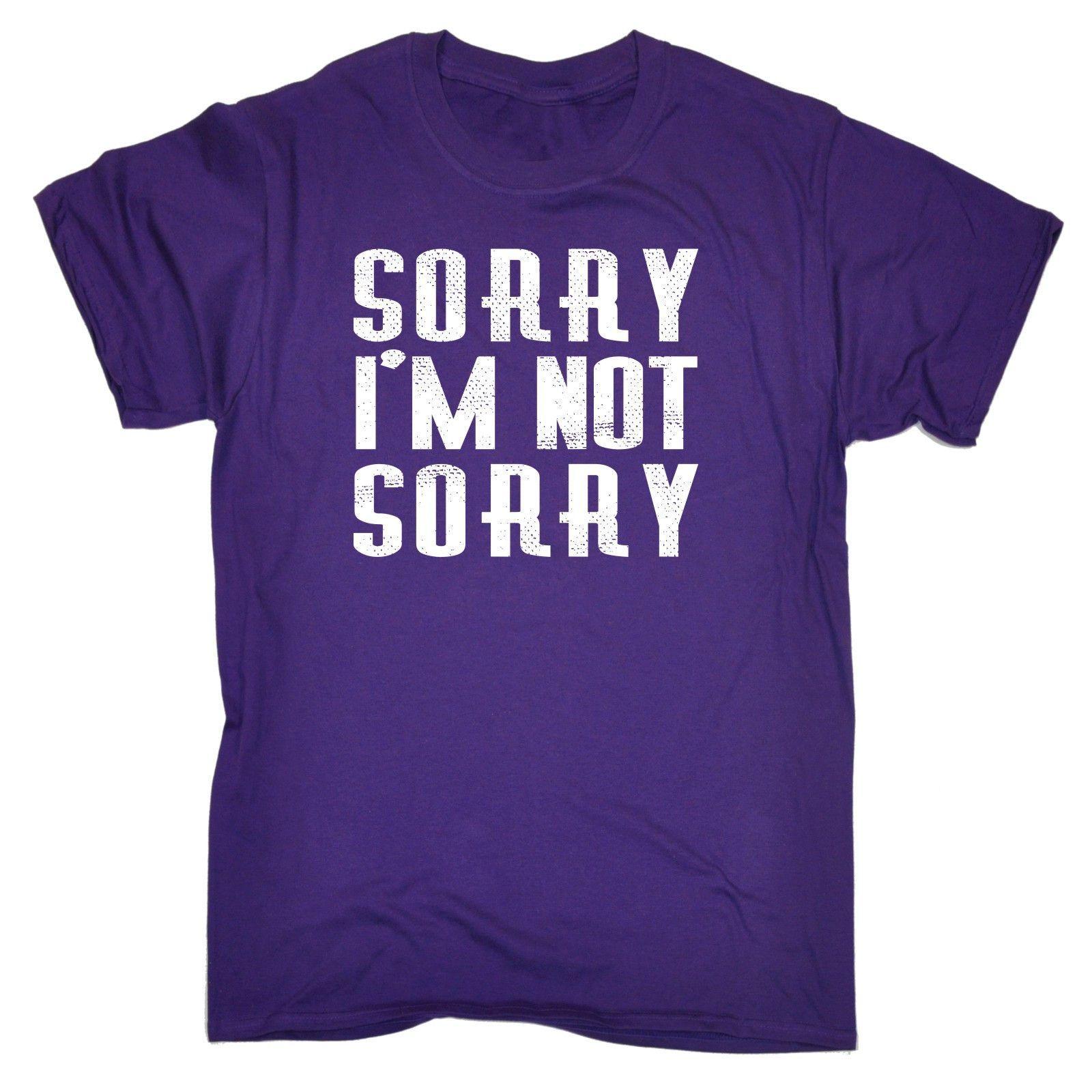 123t USA Men's Sorry I'm Not Sorry Funny T-Shirt