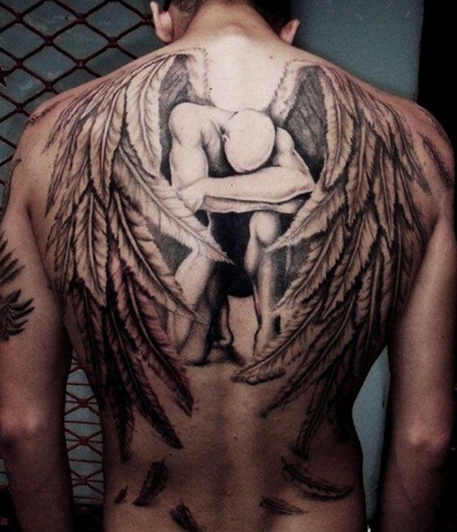 Tattoo Ideas Awesome 3d Tattoo Ideas And Inspirations Back Piece Tattoo Angel Tattoo Men Angel Back Tattoo