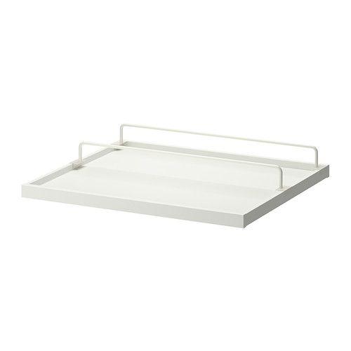 KOMPLEMENT Udtrækshylde med skostativ - hvid/hvid, 75x58 cm - IKEA