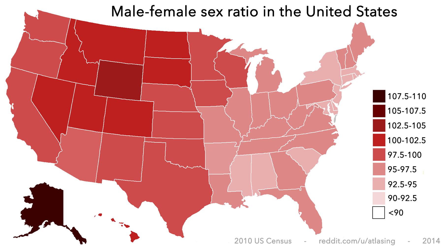 Male-Female Sex Ratio In The United States Httpiimgur -1651