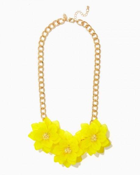 Neon Poinsettia Bib Necklace | Charming Charlie