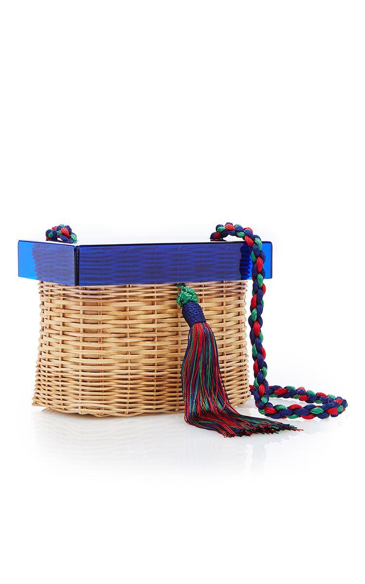 Betina woven-rattan box bag Waiwai 55kkzfs