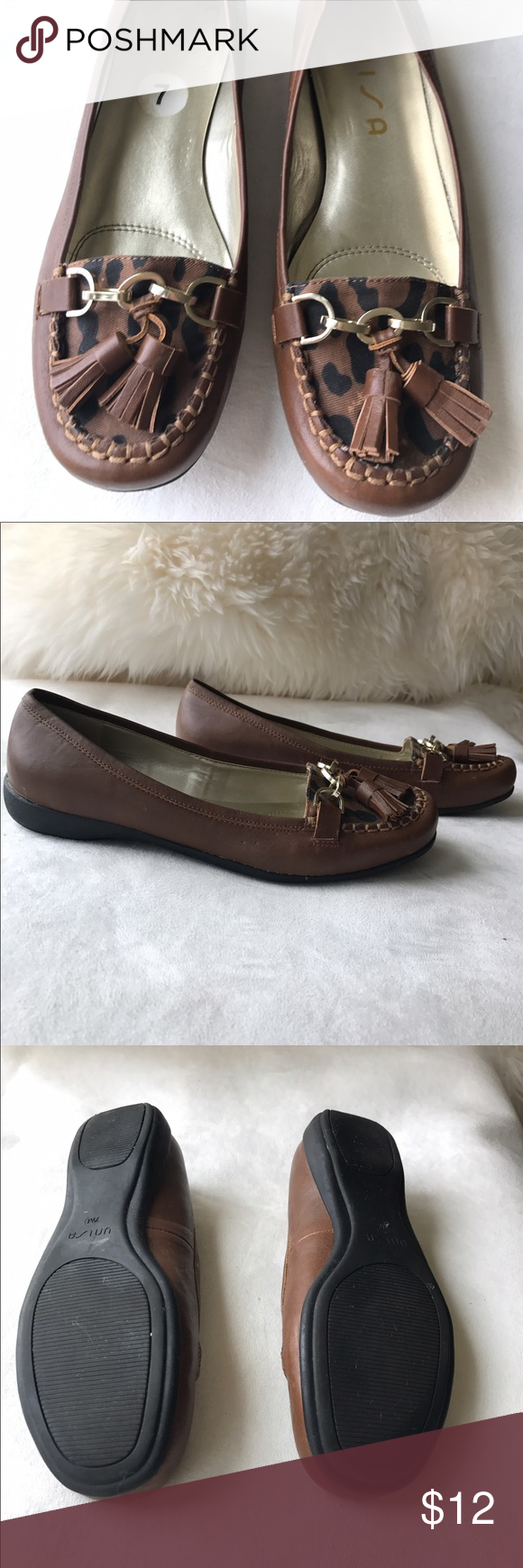 Unisa Loafers These Unisa loafers mesh classic comfort with modern sass. Cheetah print is complimented by cute tassel detail and gold findings. Really comfortable sole for all day wear. Unisa Shoes Flats & Loafers