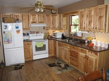 Lowe S Hickory Kitchen Cabinets Stock Custer Traditional Other Metro