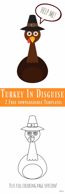 Turkey in Disguise Free Printable Template Turkey