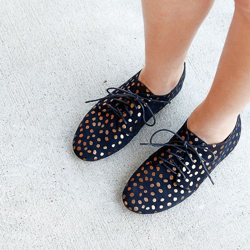 New Mollini Lawley Navy Suede/Bronze Women Shoes Casuals Flats Lace-ups