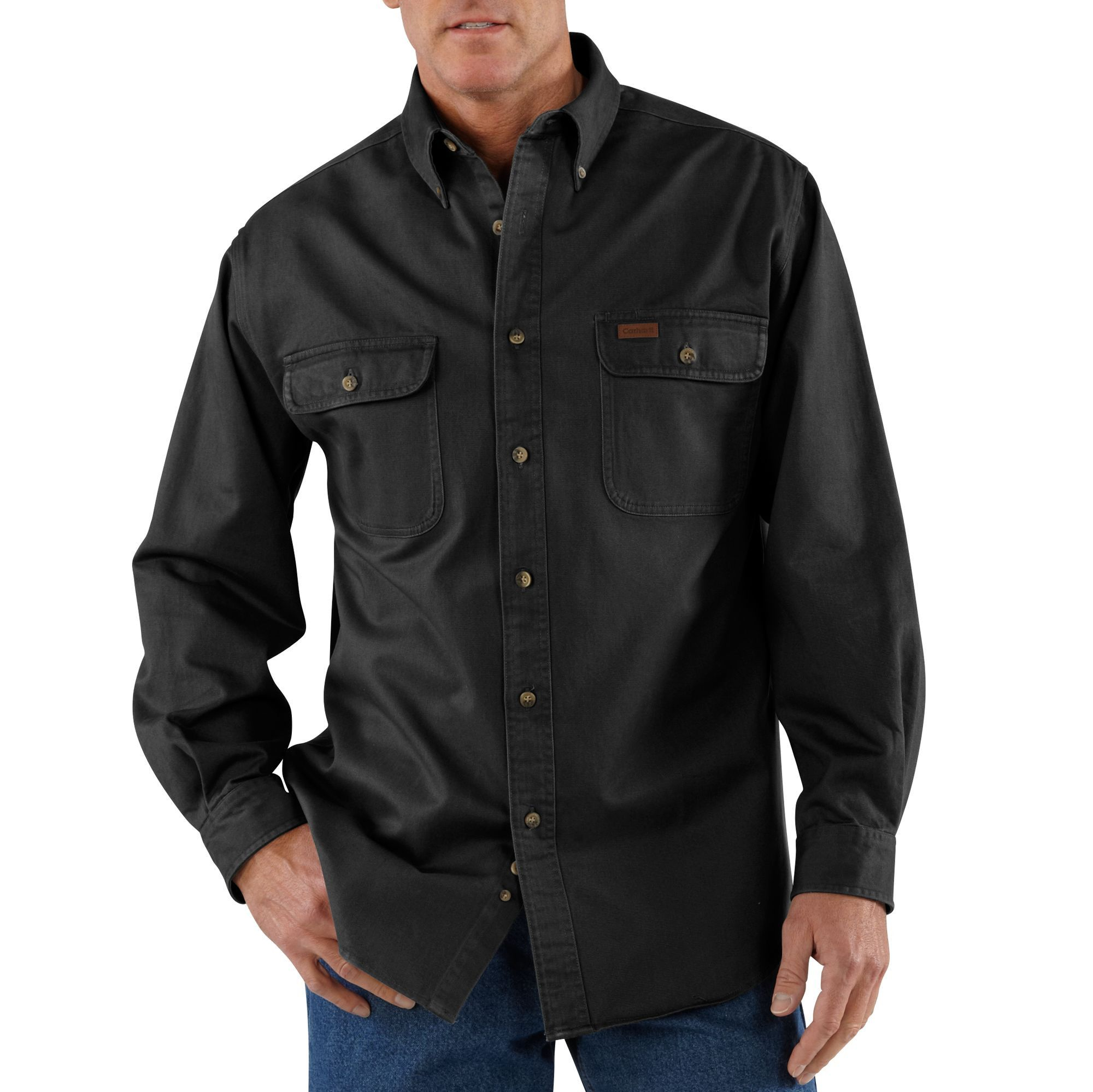 Flannel shirt tied around waist guys  Carhartt Mens Oakman Work Shirt S Black  Products  Pinterest