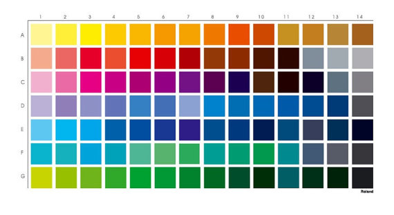 Sample Cmyk Color Chart Evelin Kasikov Cmyk Series Graphic And