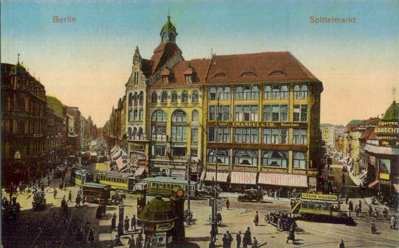 399ce77745d0de Spittelmarkt zwischen Leipziger und Niederwallstraße.. Warenhaus Jandorf..  um1891 Leipziger Platz