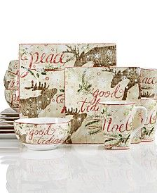 222 Fifth Up North 16-Pc. Dinnerware Set | Dishes and More ...