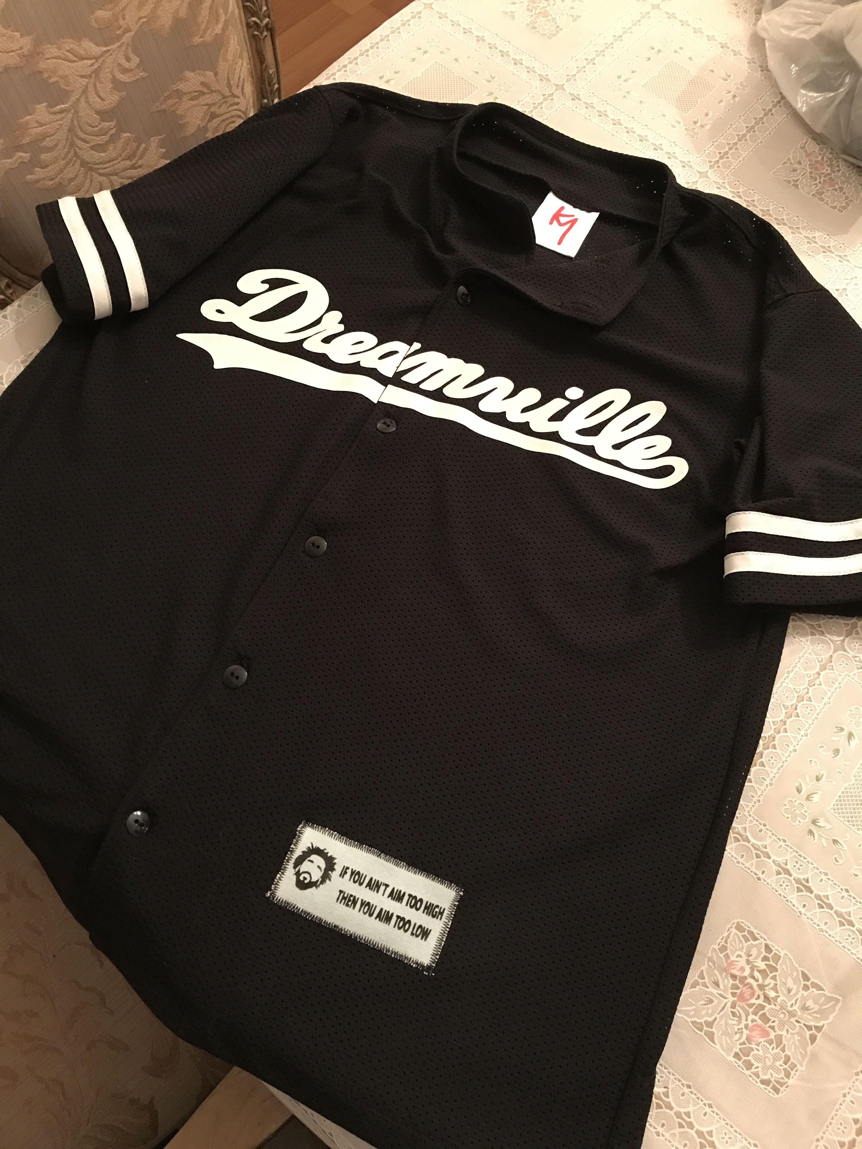 5df831cd7c01 Jcole Dreamville custom baseball jersey   Mens Baseball Jerseys in ...