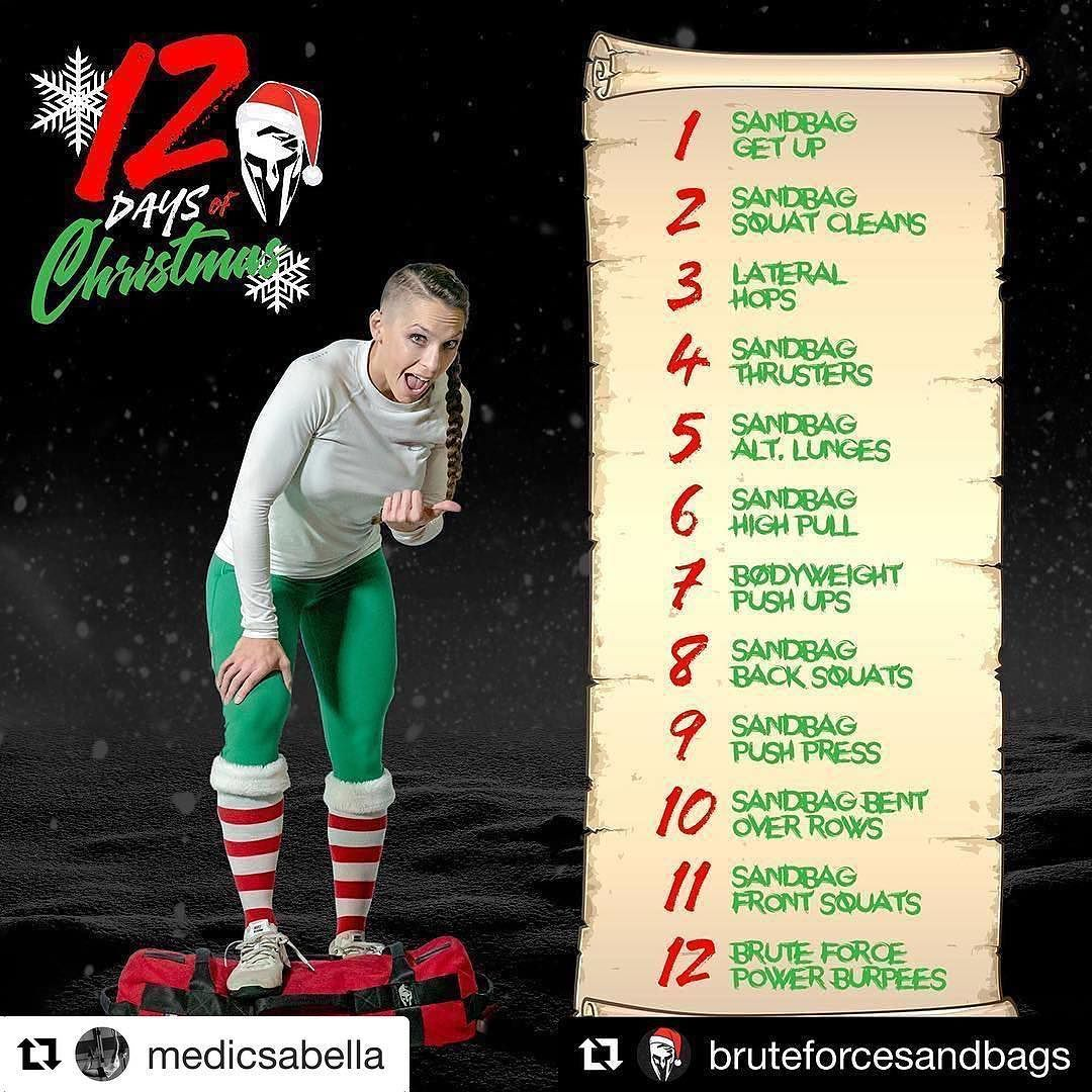 Repost Medicsabella Get Repost Workout Announcement Sign Up With 555fitness And Join T Christmas Workout 12 Days Of Christmas Workout Sandbag Workout