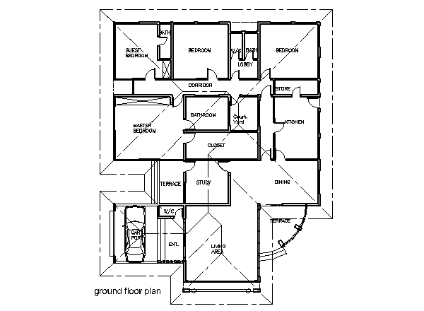 4 Bedroom Home Plans And Designs Ghana House Plans  Simple House Plans  Pinterest  Ghana House