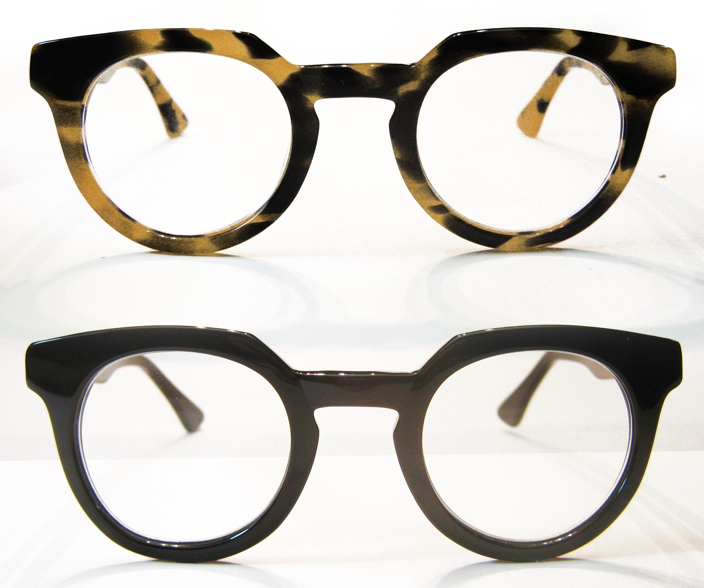 2d2f98f4c74f An eccentric thick round reader. Chunky Hornrim Hipster Reading Glasses in  Tortoise or Black.