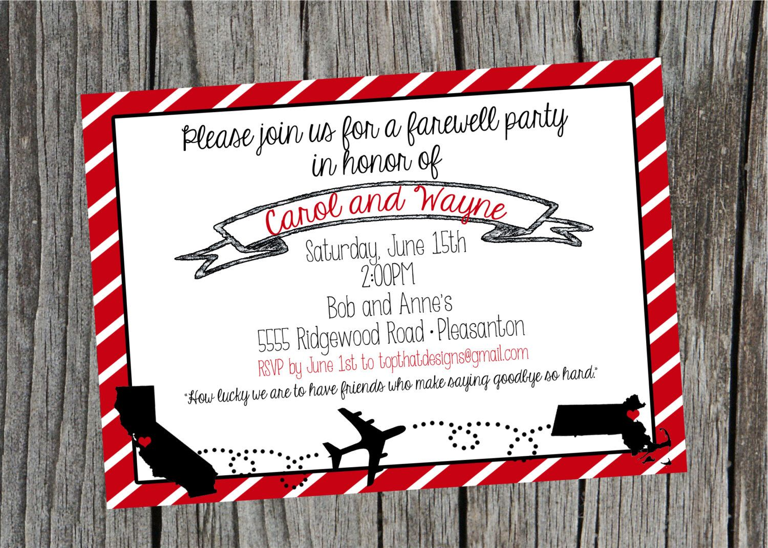 Going Away/Moving Party Invitation- Digital File by jenleonardini ...