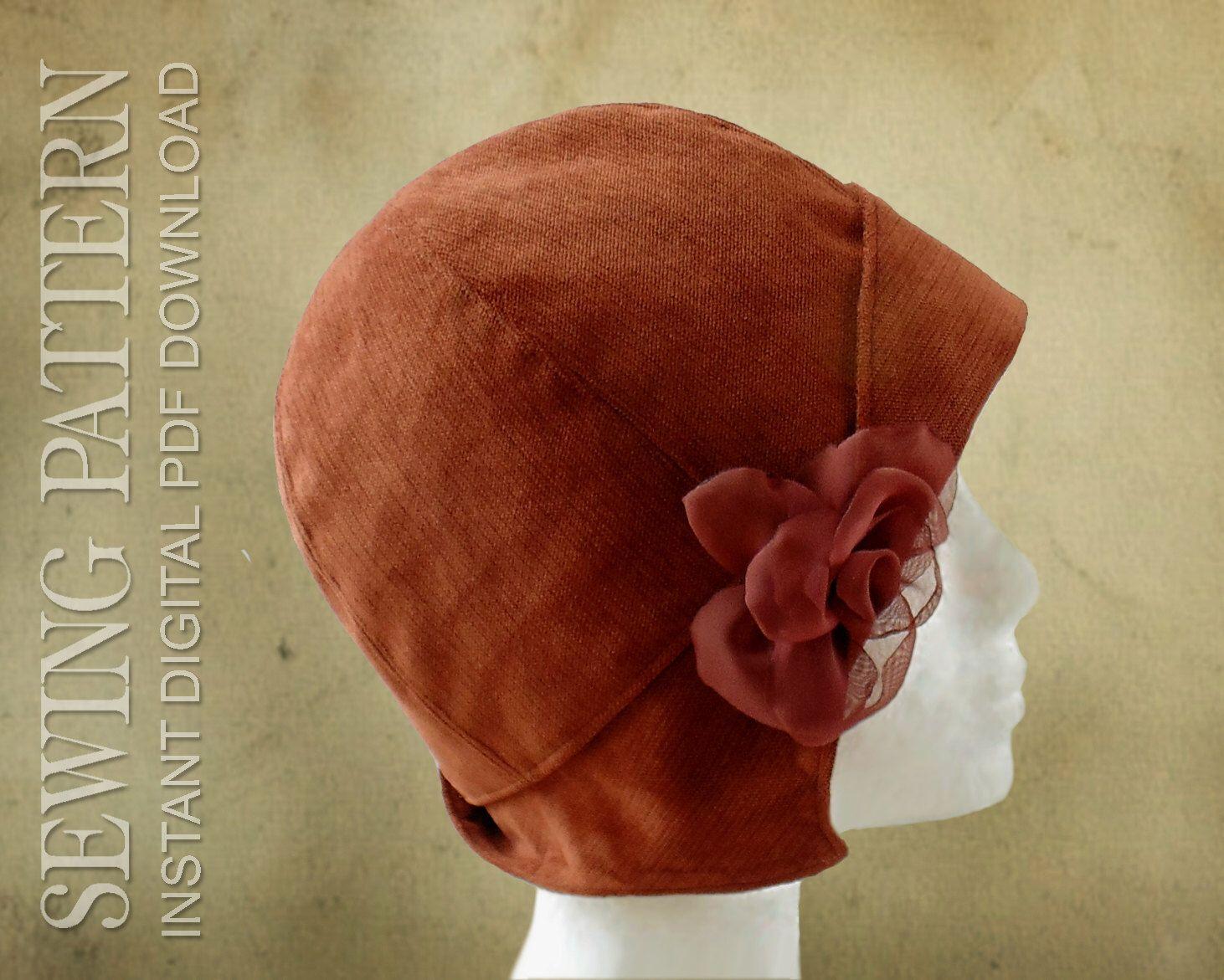 Schnittmuster - Clementine, 20er Jahre zwanziger Cloche Hut für Kind ...