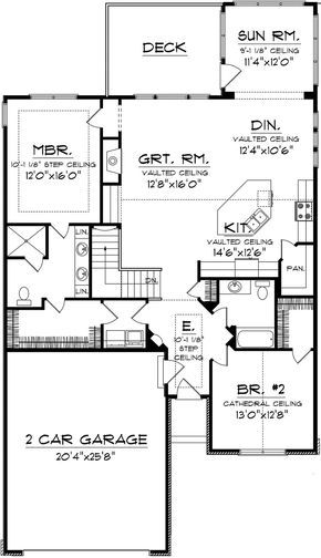 House Plan 1020 00183 Craftsman Plan 1 662 Square Feet 2 Bedrooms 2 Bathrooms Ranch Style House Plans Architectural Design House Plans New House Plans