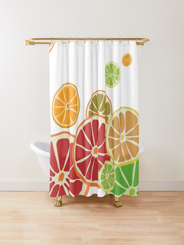 Oranges And Lemons In Citrus Colors Shower Curtain With Images