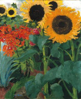 High Sunflower  -  Emil Nolde  1926  Canvas, 89 x 74 cm