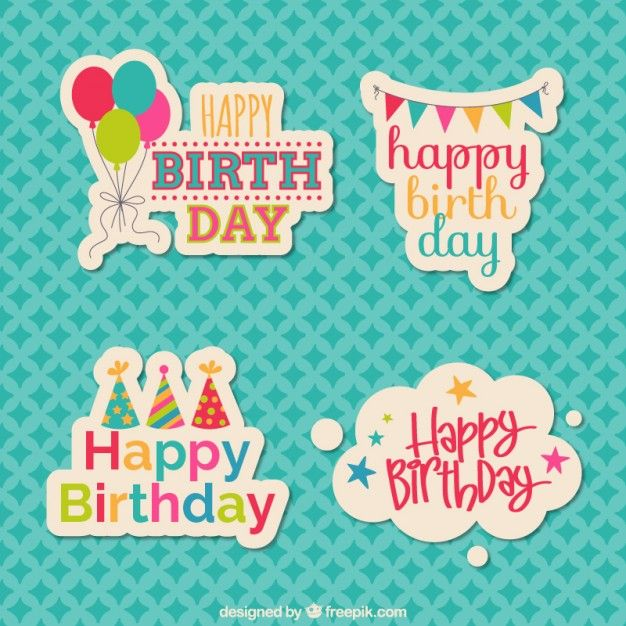 Download Birthday Stickers For Free Happy Birthday Printable Birthday Stickers Happy Birthday Cards