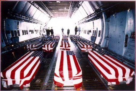Image result for war casualties flag draped coffins on plane