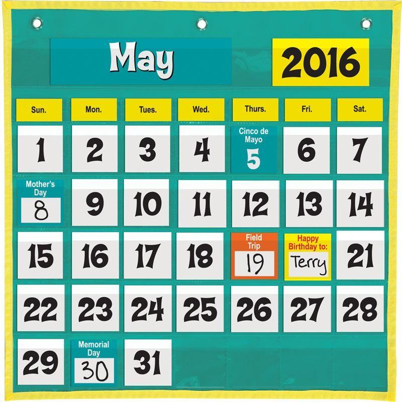 E Saver Calendar Pocket Chart