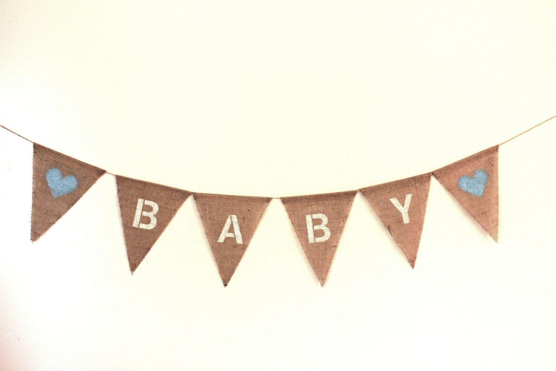 baby boy burlap banner baby shower decor boy by bannergoddess