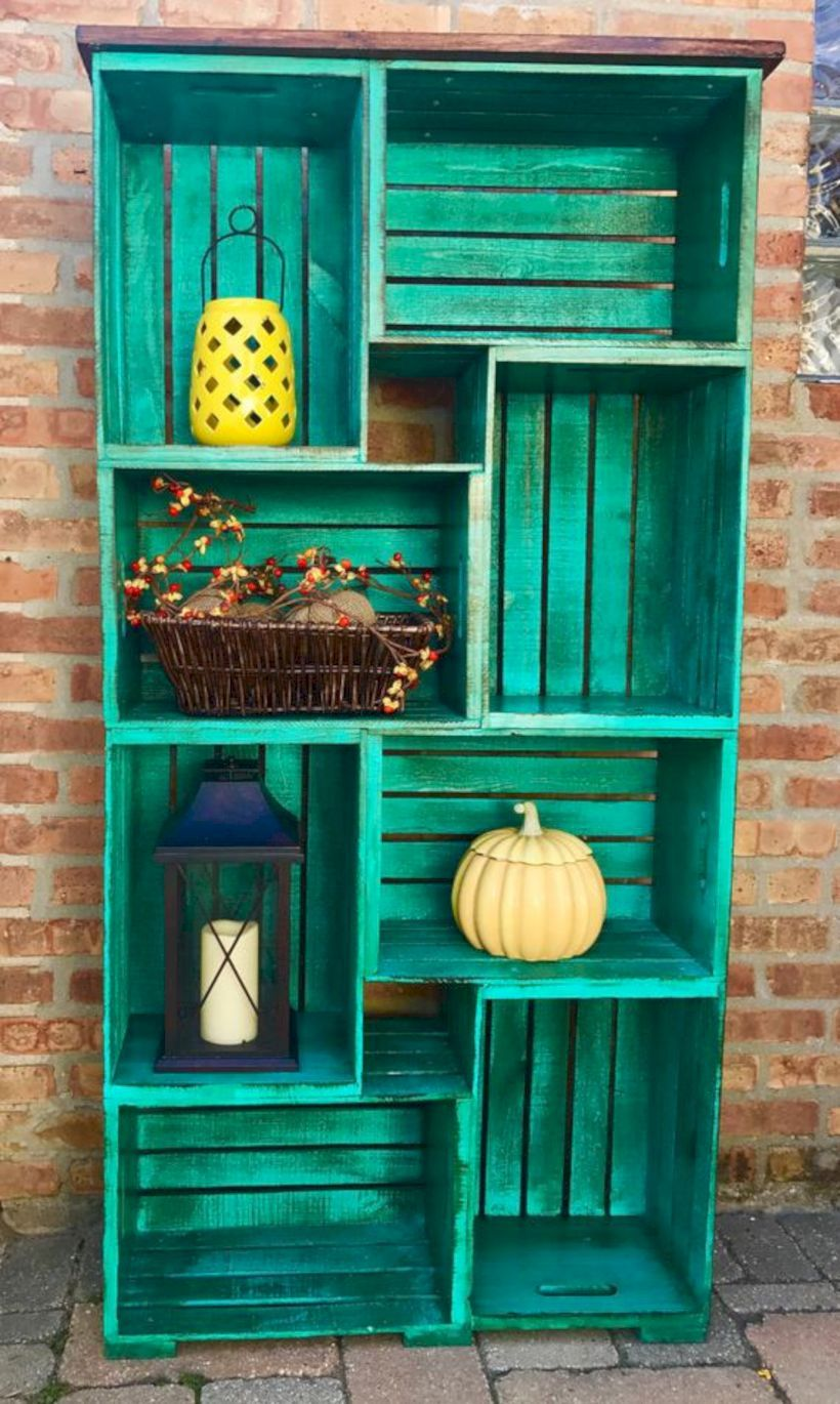 Photo of 54 DIY Wood Crate Shelves Projects to Calm the Clutter Effectively ~ GODIYGO.COM