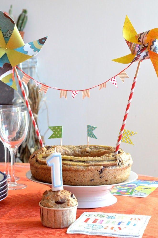 Les bonheurs d'Anne & Alex: Son premier gâteau d'anniversaire, vegan et réduit en sucre