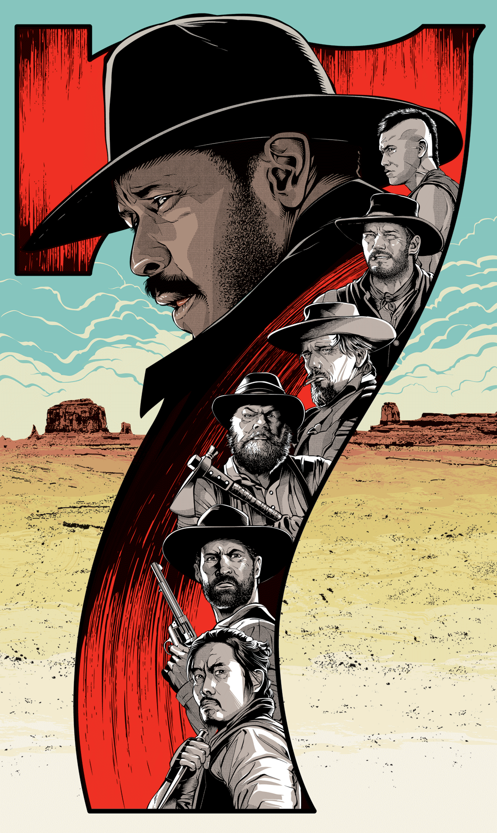 the magnificent seven poster created by cristiano siqueira