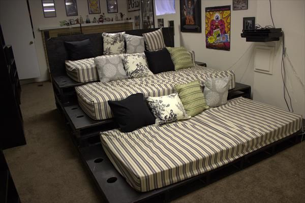 Diy Pallet Home Theater Home Theater Decor Home Theater Rooms