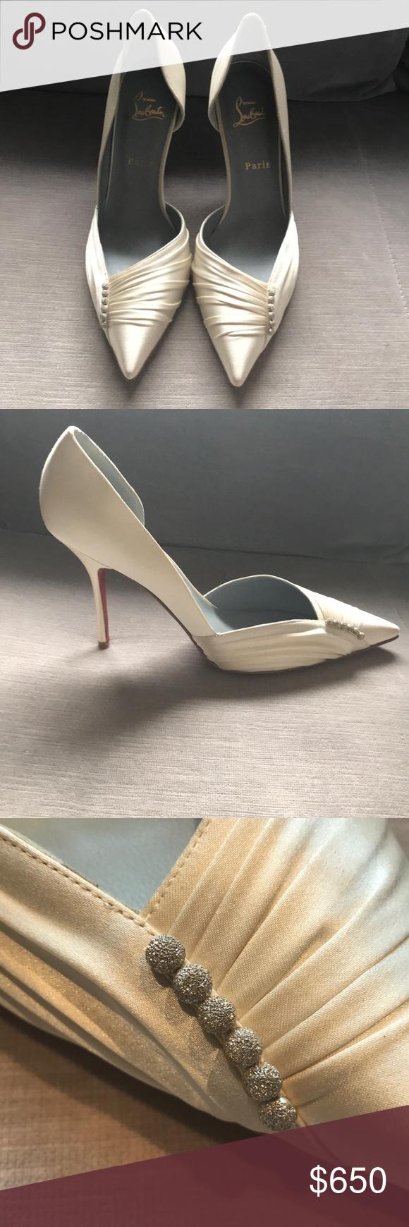 aea869ee847 Christian Louboutin wedding heels - size 41 New without box, never ...