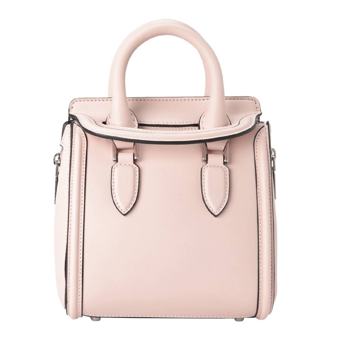 ccbad57593f5 Alexander McQueen Pale Pink Leather Mini Heroine Bag