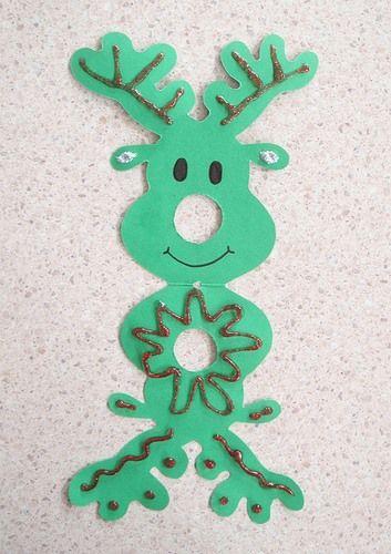 C mo hacer un reno de navidad realizando manualidades para for Manualidades souvenirs navidenos