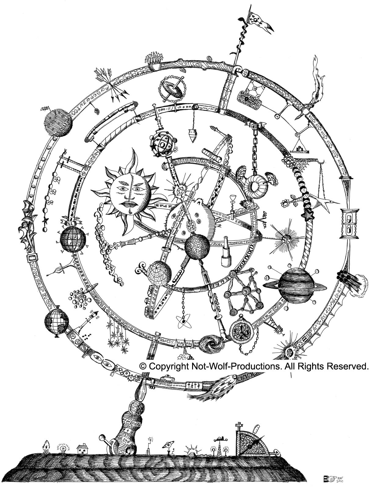 Ptolemaic astrolabe model which is in accordance with the ptolemaic astrolabe model which is in accordance with the morganverse showing geocentric arrangement of planets nvjuhfo Image collections