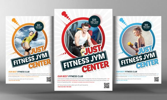 Fitness Flyer Template by Business Templates on @creativemarket - fitness flyer template