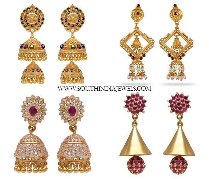 Latest Joyalukkas Collections Earrings Collections