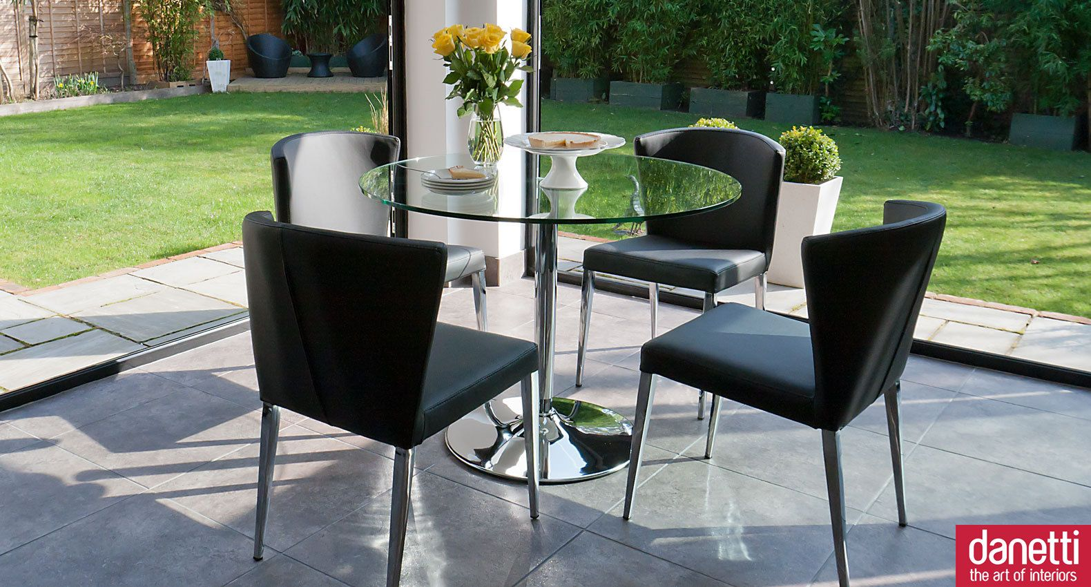 Naro clear glass and curva seater dining set dining sets glass