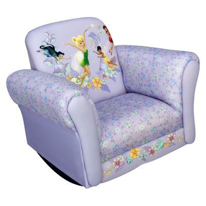 Disney Tinkerbell Fairies Rocking Chair Kids Bedroom Inspiration