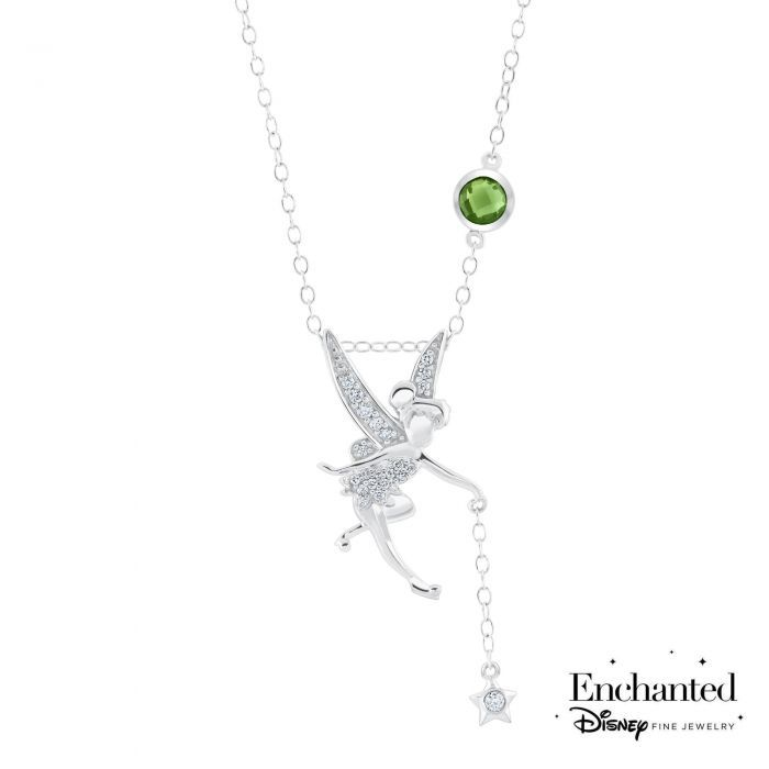 287d8b88c Enchanted Disney Fine Jewelry Diamond Tinkerbell Pendant 1/10ctw in ...
