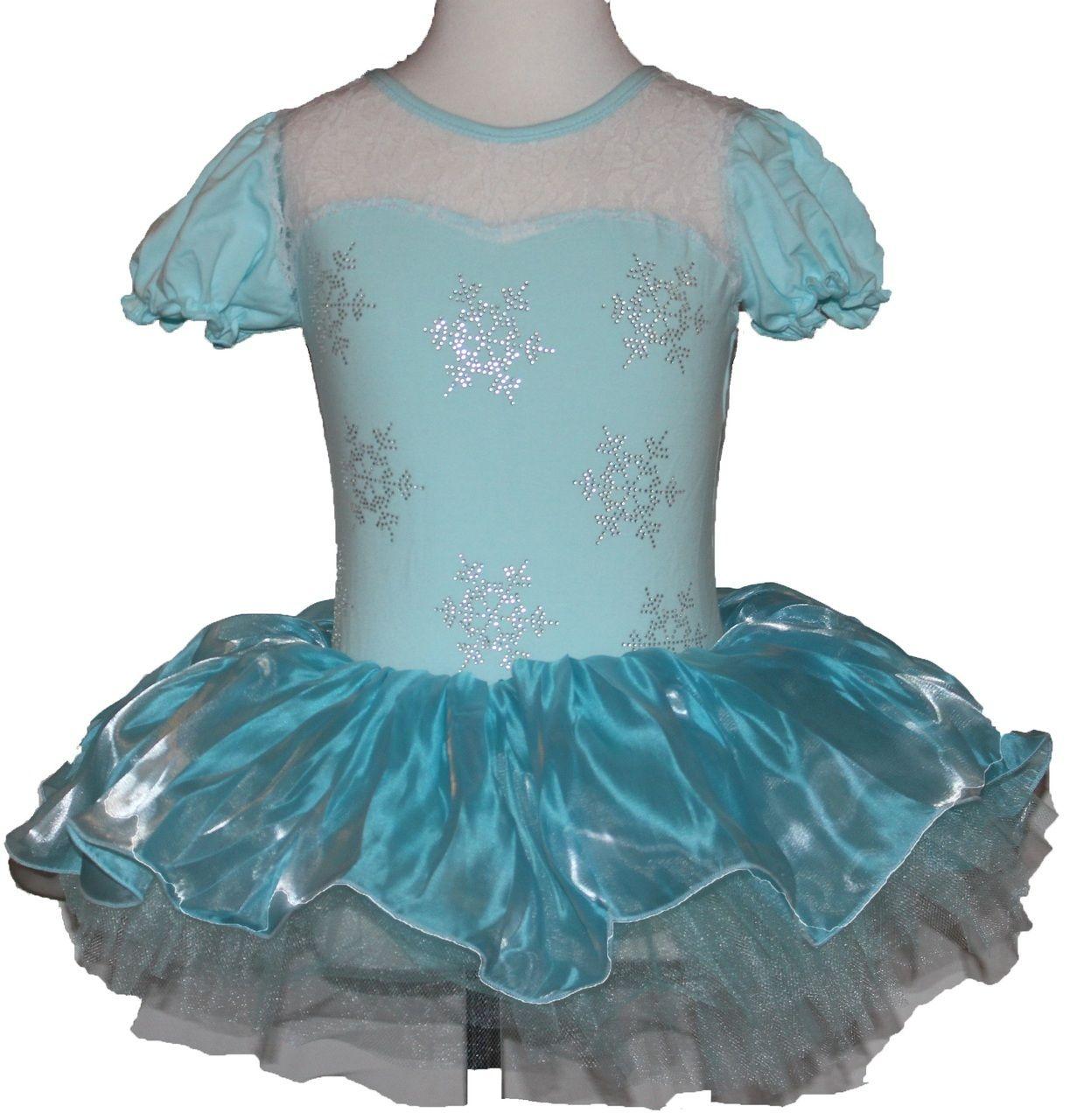 Ella Blu Store - Girls Frozen Elsa Princess Ballet Tutu Snowflake ...